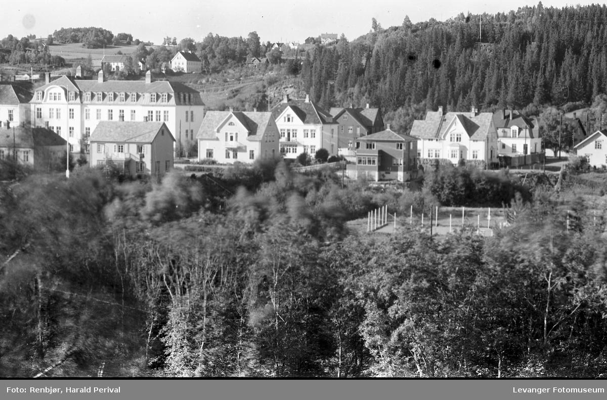Utsikt mot Levanger sykehus.