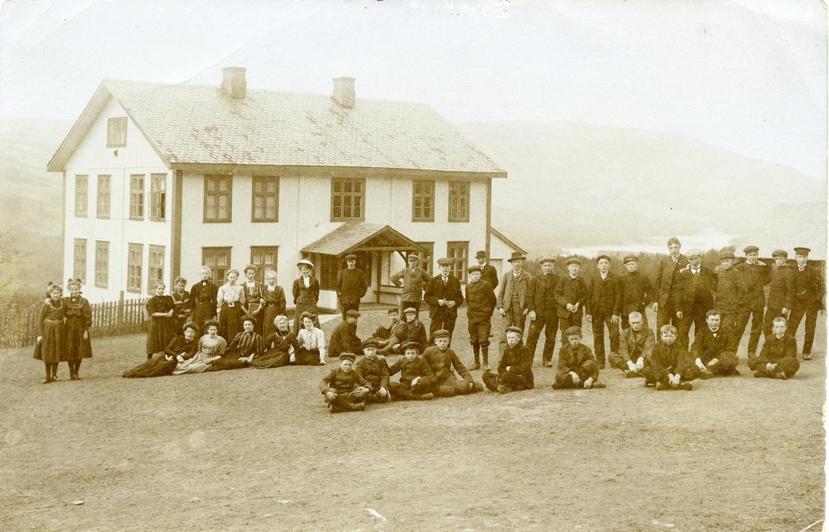 Valdres kommunale almenskole, 1907/08.