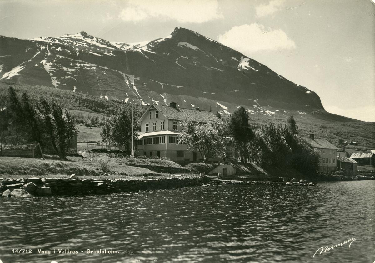Grindaheim hotell, Vang i Valdres. Postkort.