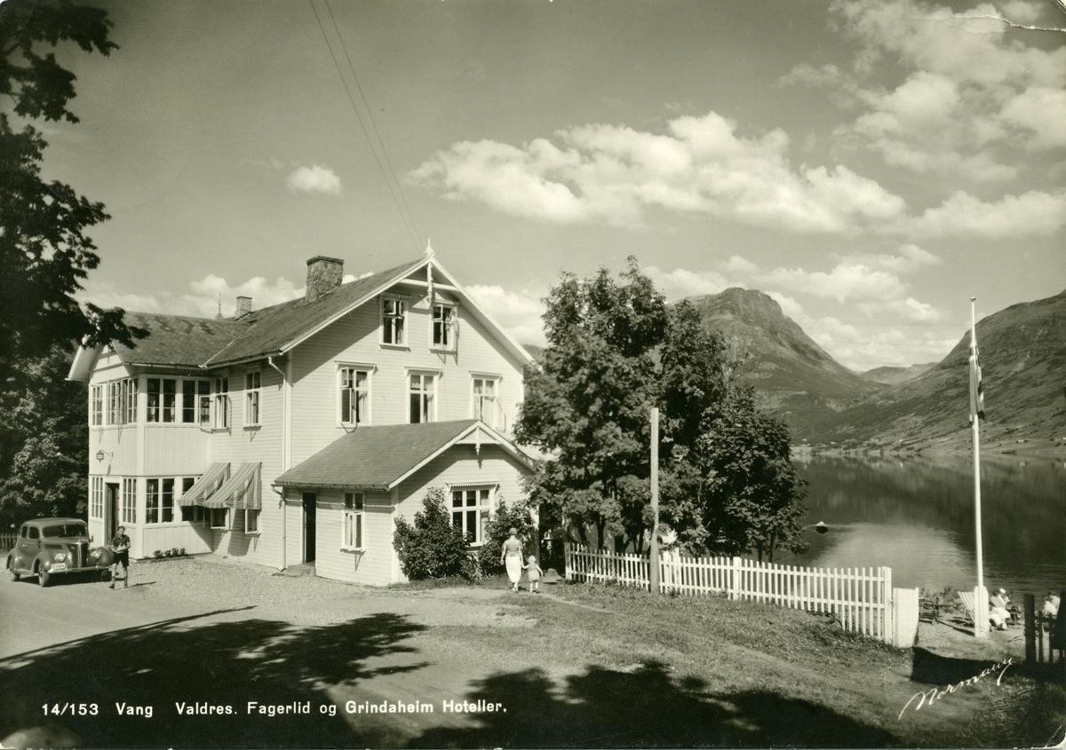 Grindaheim hotell, Vang i Valdres. Postkort fra 1930-åra.