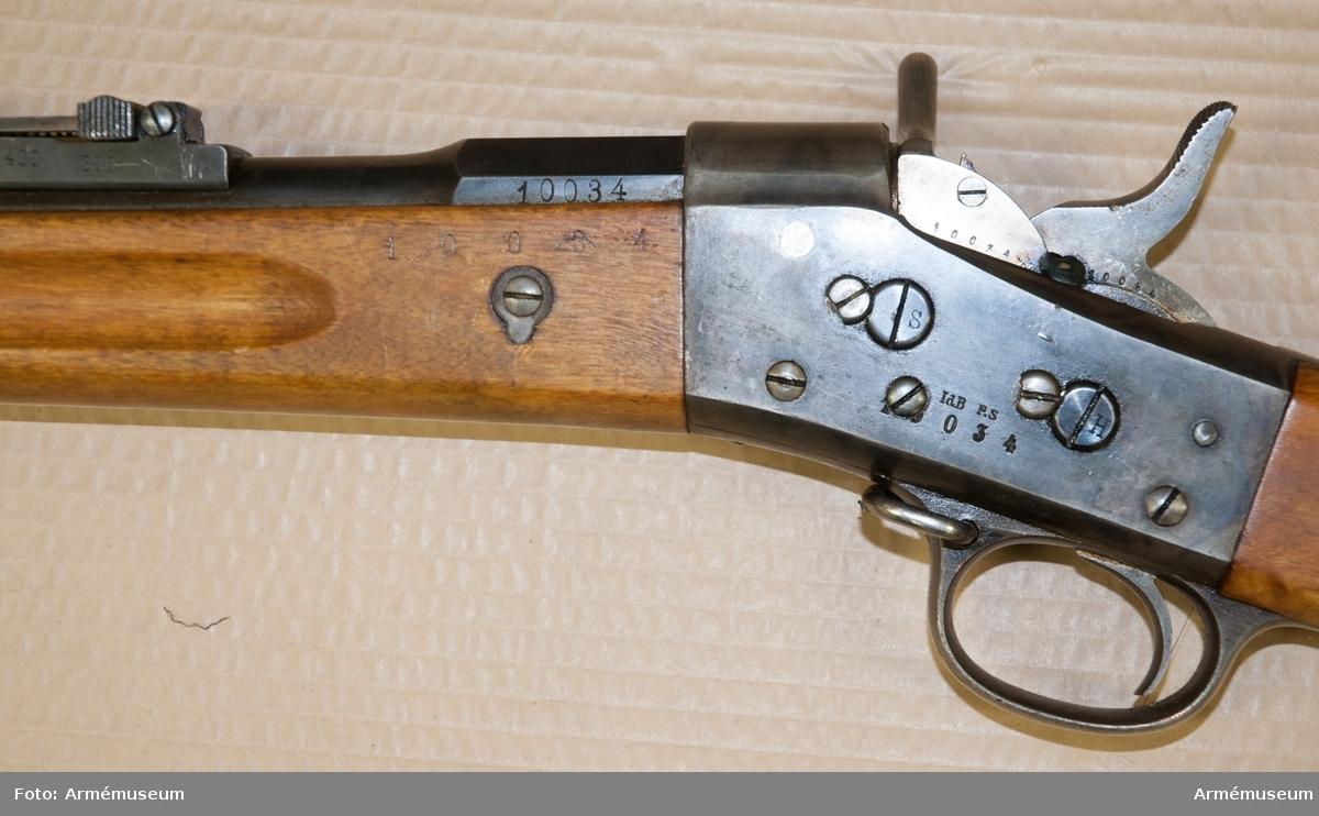 Grupp E II f. 12 mm 1867 års gevär m/1874.