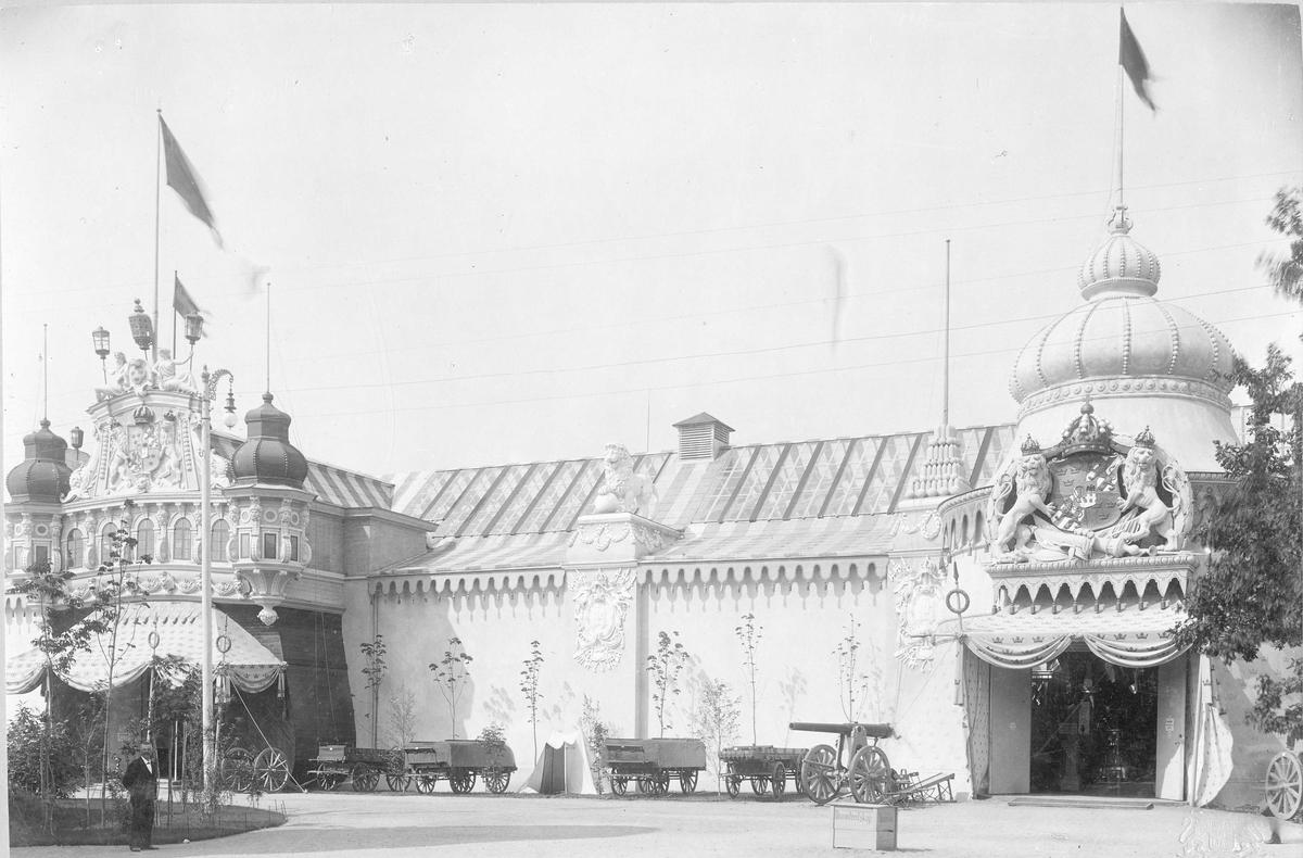 Stockholmsutställningen 1897, svenska paviljongen.