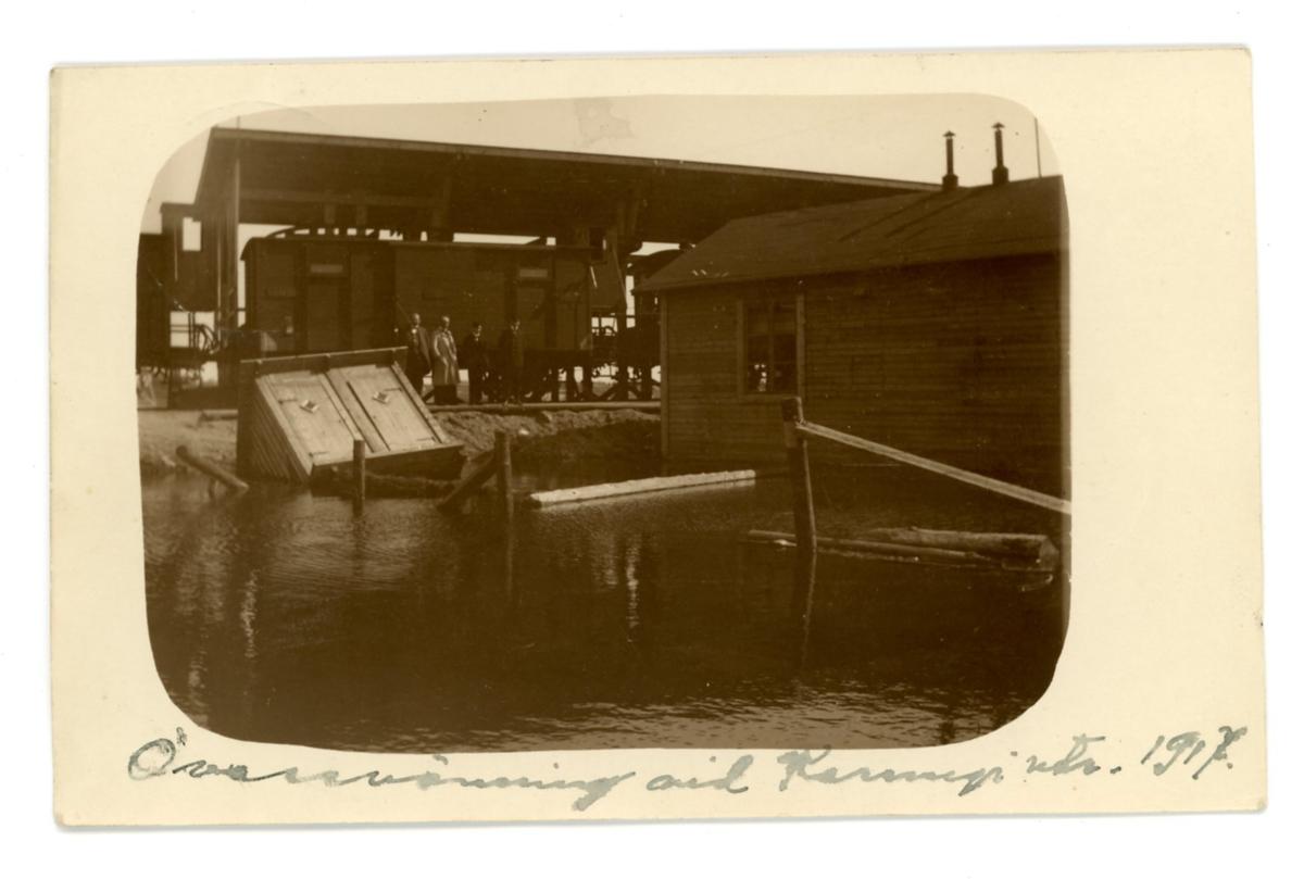 Översvämning vid Karungi Utrikes 1917.