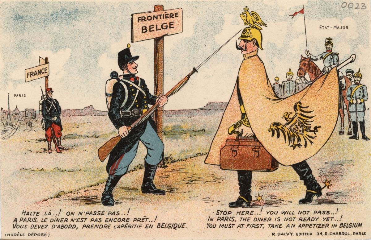 Fransk propagandabild från första världskriget.