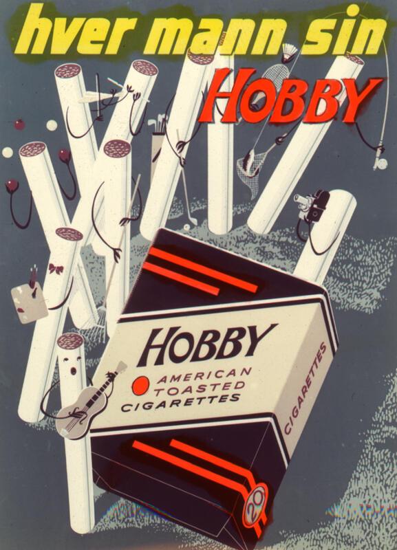 Reklame for Hobby sigaretter fra Tiedemann.