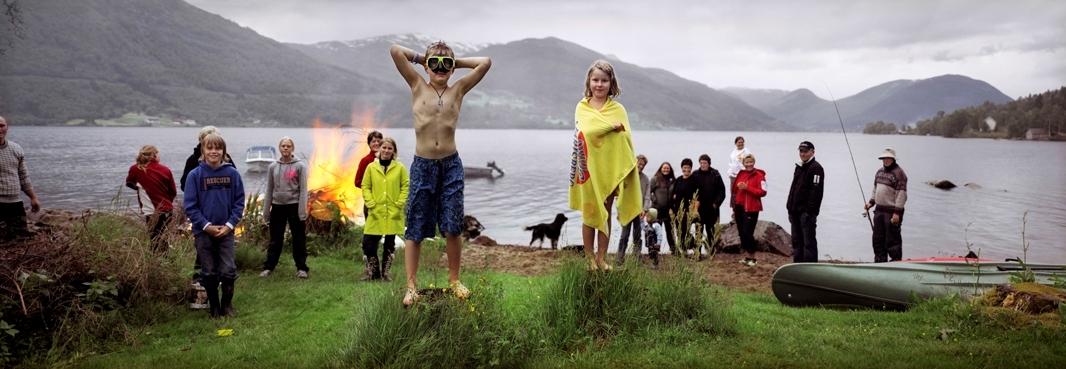 Jonsokfeiring, Gjesdalen, 23. juni [Fotografi]