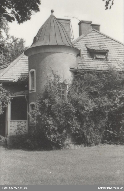 Småland Kalmar Gamla Staden Kvarteret Häggen, stadsäga 277  Villa, ritad av Fred Olsson 1905.  Foto: Ann-Britt Spåre-Bernstål, augusti 1980