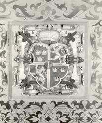 Riksvapnet under Vasaätten 1523-1654. Hjärtskölden på stora