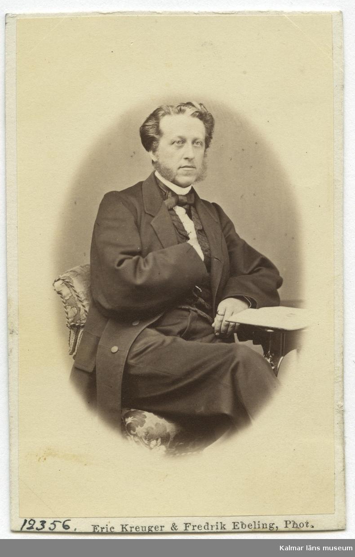 Anton Hugo Beijer, sånglärare. Gift med Anna-Amalia Posse. Foto: Eric Kreuger & Fredrik Ebeling, 12356.