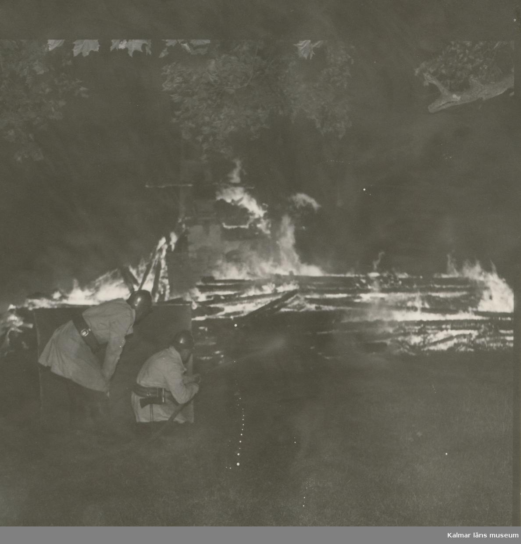 Branden i Danerums mangårdsbyggnad den 28/6 1961.