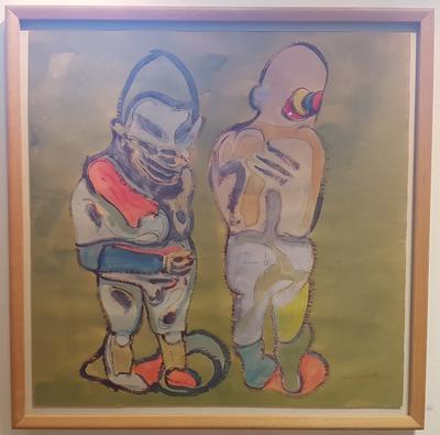 Uten tittel. Ca. 1965-70. Gouache på papir. 95x95 cm. Kr. 83.333