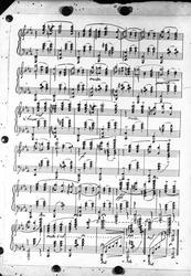 Musikknoter. Kopi av noteark. Bestillt av Trygve Bauer Nilse