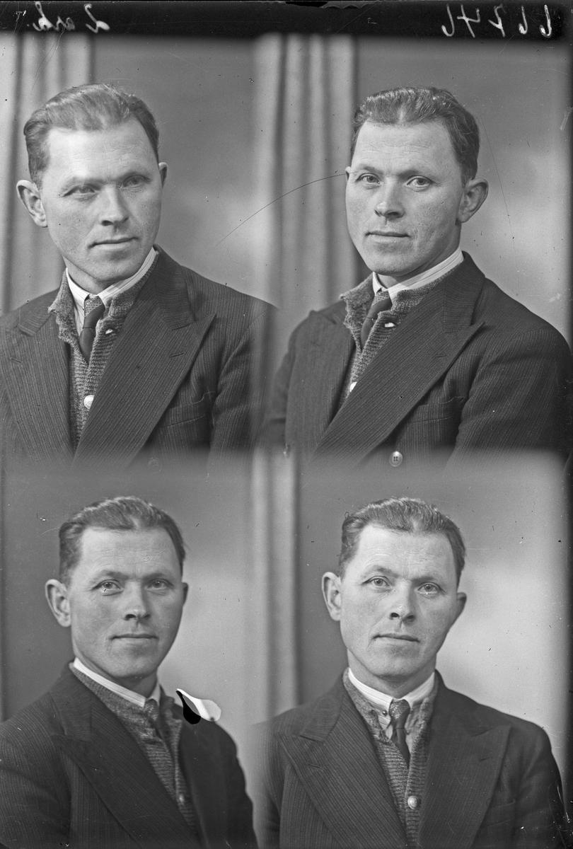 Portrett. Passfoto. Ung mann. Bestilt av Andreas Helland. Sjømannshjemmet.