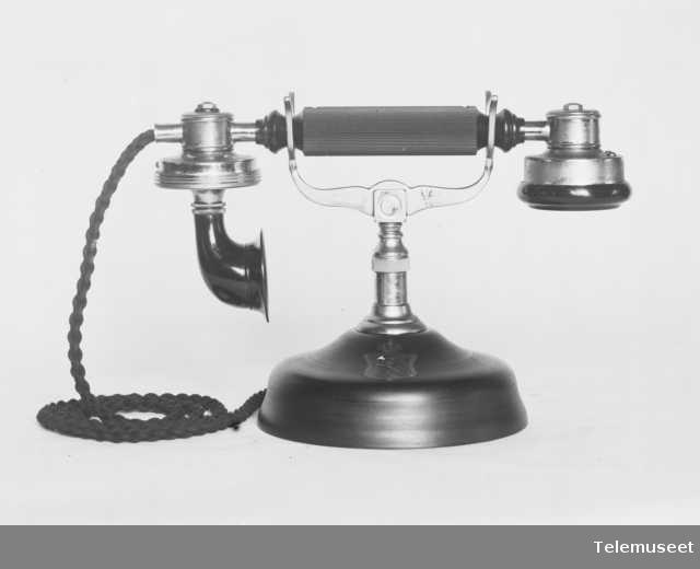 Telefon, cb bordapparat i stål,  mtlf.liggende, klokke 1000 ohm. Uten klokkekasse. 12.6.13. Elektrisk Bureau.