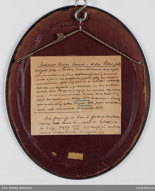 Toldkasserer Thomas Edvard v. Western Sydow,  f. 03.08.1798 - d. 20.12.1875