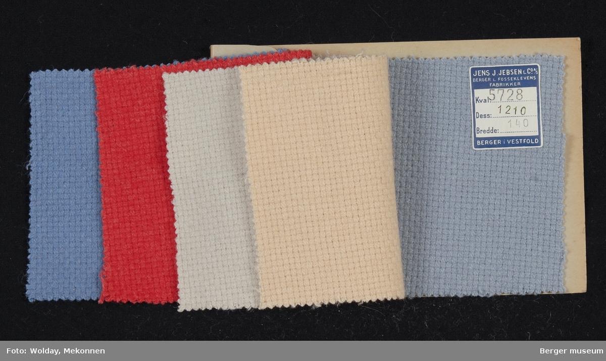 Prøvehefte med 5 prøver Stykkfarget Kvalitet 5728 Jakke