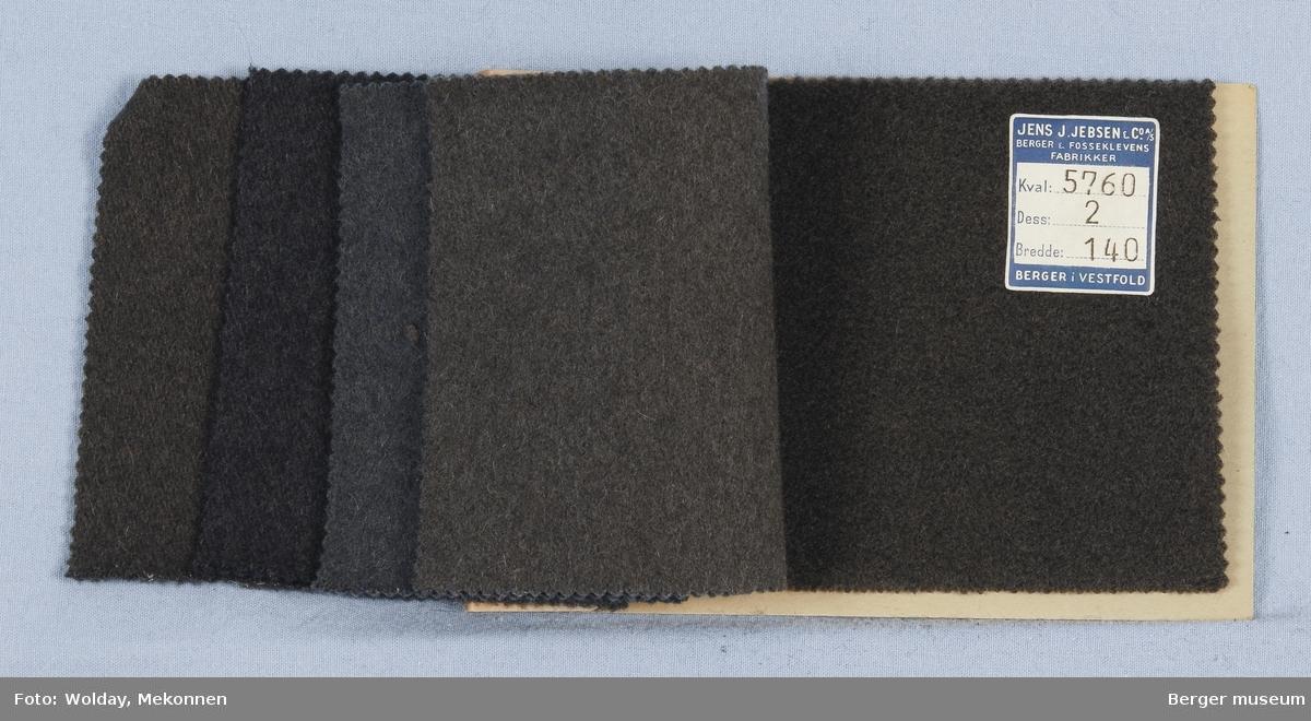 Prøvehefte med 5 prøver Melert Kvalitet 5760 Kåpe