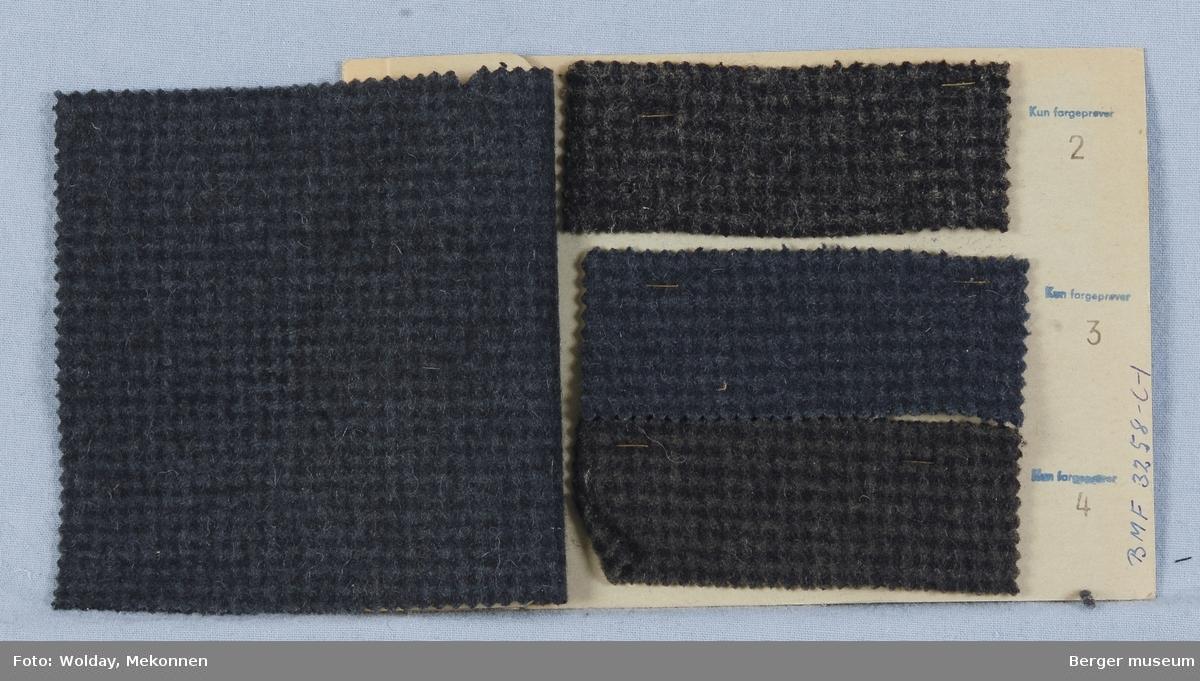 Prøvehefte med 4 prøver Frakk Kvalitet 5857 Melert