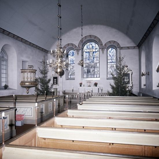 Bildtext: Trävattna socken. Kyrkan 1981.