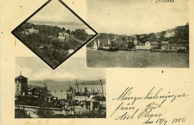 """Enligt Bengt Lundins noteringar: """"Utsikt och ångbåtsbron""""."""