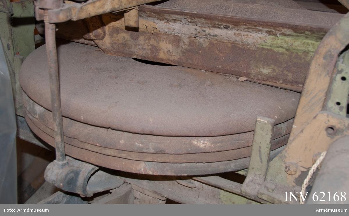 Grupp F I. Till 7,6 mm luftvärnskanon m/1922 med följande delar: eldrör,  kammarfodral, mynningsfodral, kopplingsdosa, 4 st markplattor, 3  st korta markpålar, lång markpåle, presenning, föreställare. Fabriksmärke, se bilaga.
