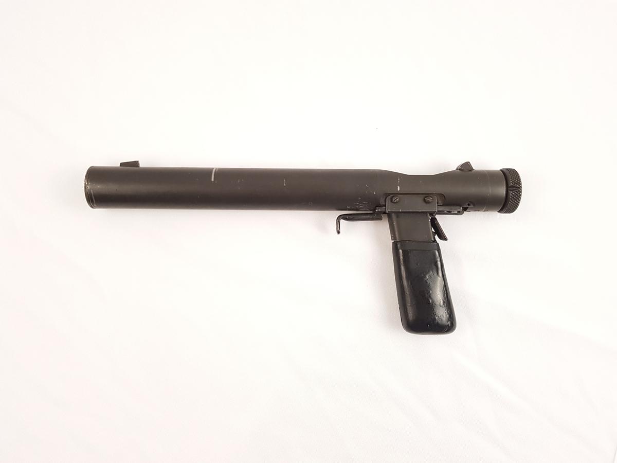 Welrod 7.65 kal pistol med lyddemper.