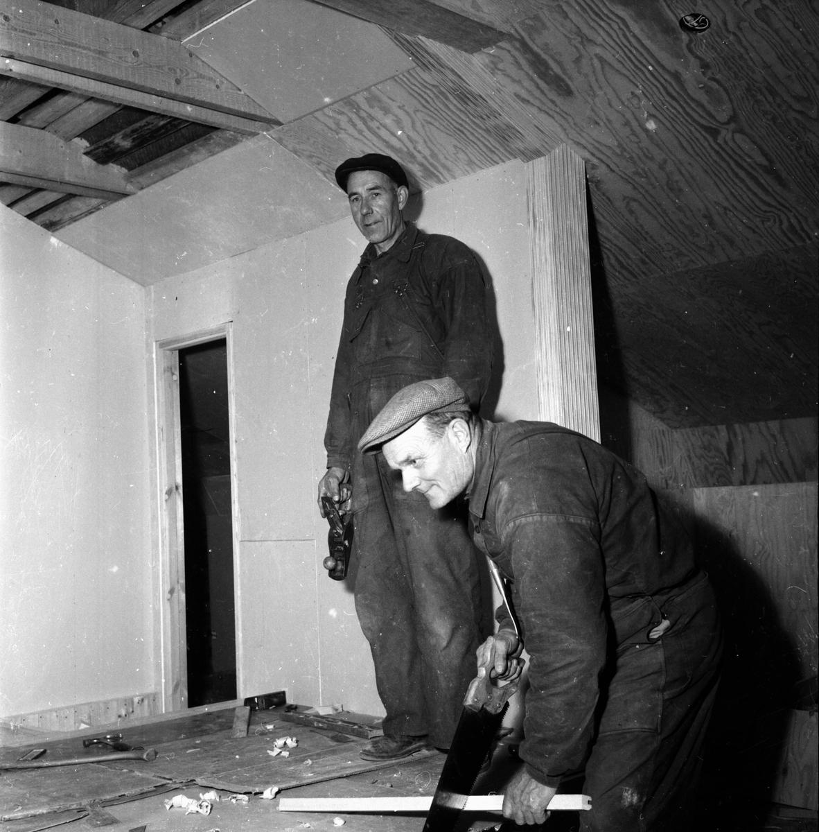 Lokalen på skolvinden. Edsbyn november 1956