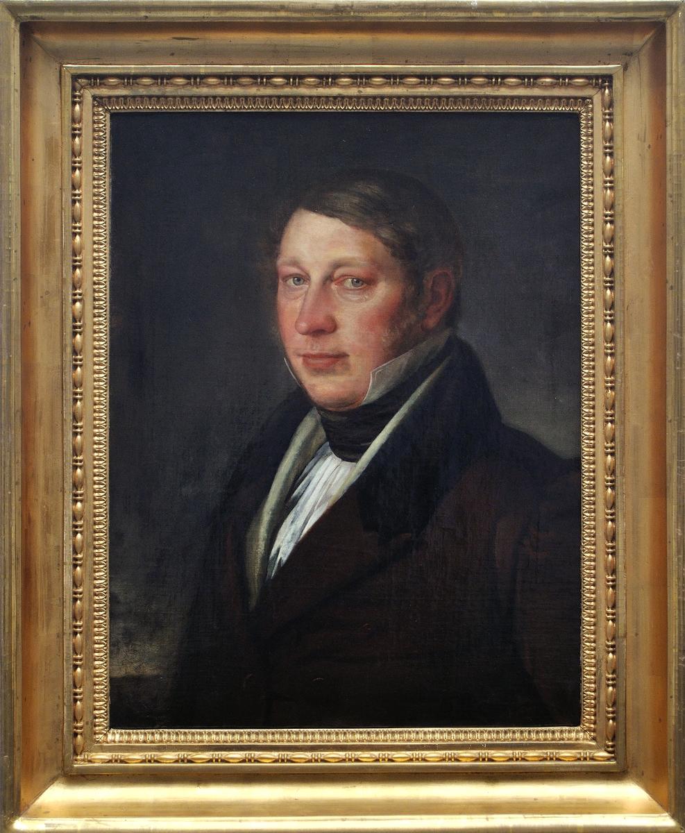 Porträtt av Grosshandlare Gustaf Adolf Elfstrand av Per Krafft d.y.