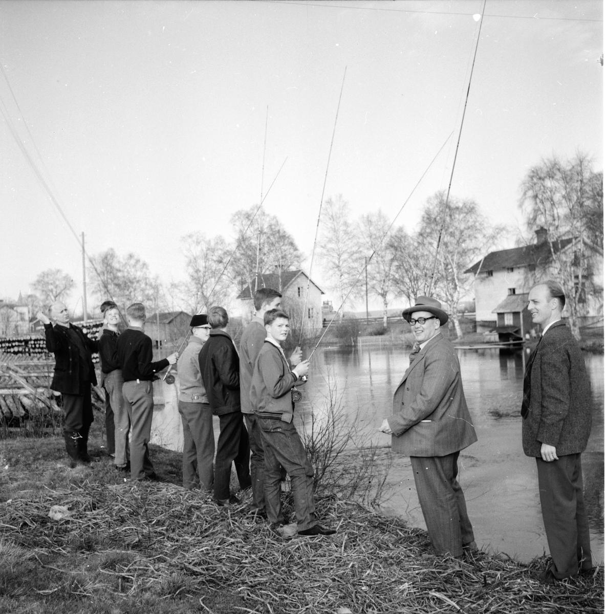 Edsbyn, Fiskeinstruktion, Weit Svensson, Mats Olofsson, Arjon, 16 Maj 1962