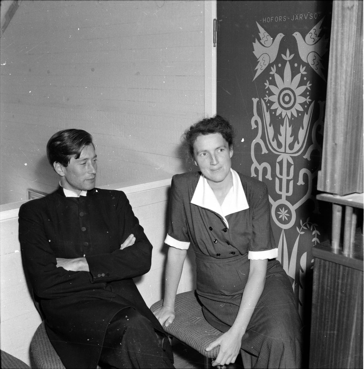 Undersvik, Stiftsgården, Pastoratskonferens, 1955