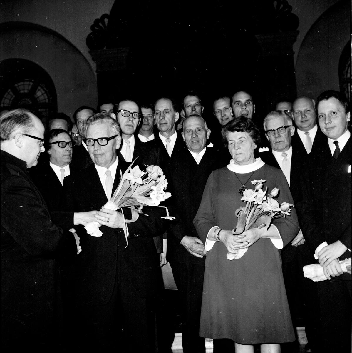 Arbrå, Manskörernas konsert i kyrkan, 1971