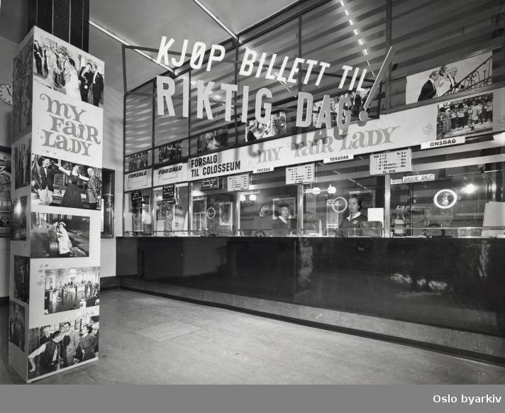 Billettluker for forsalg til Oslo kinoer.