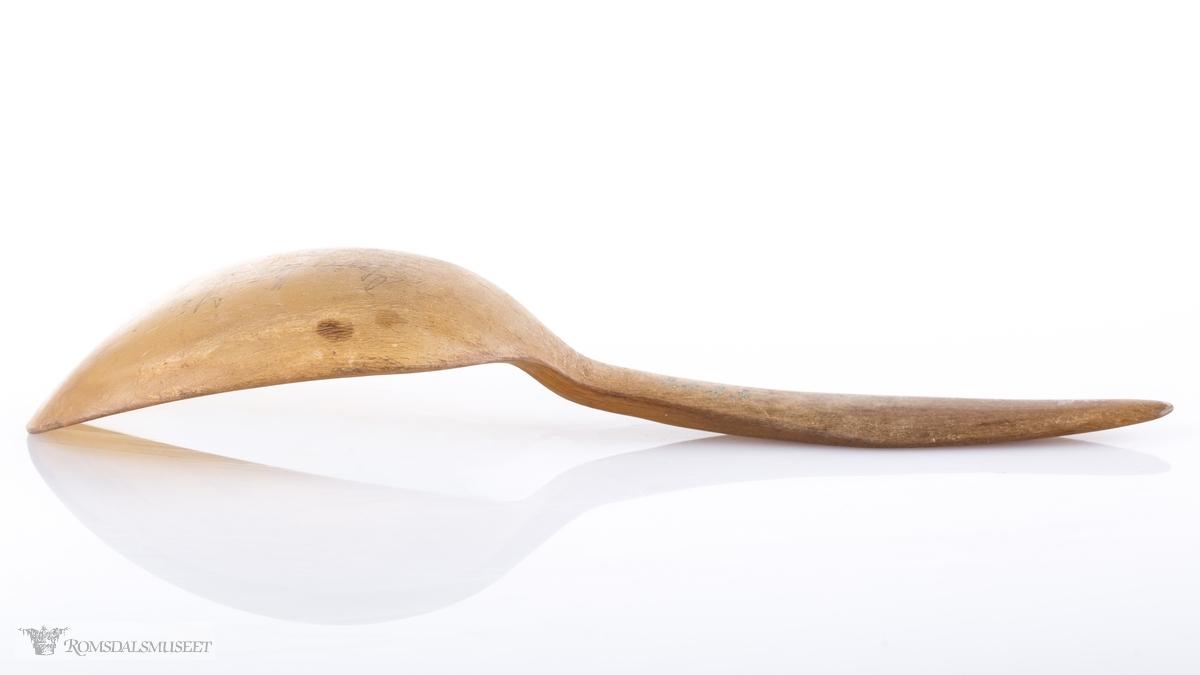 Hornskje med dypt ovalt blad.
