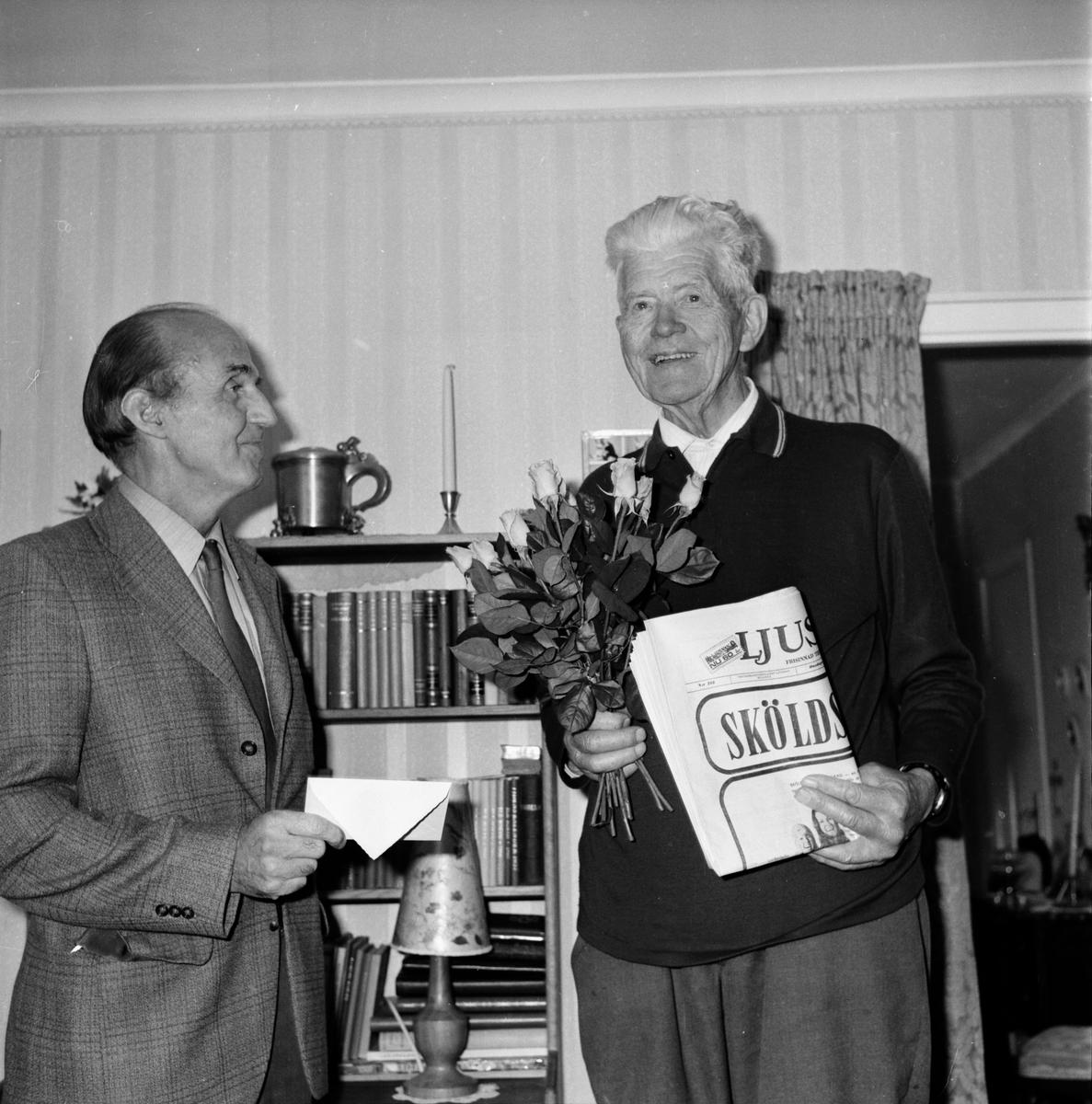 Magnus Andersson 60år med Ljusnan. Bollnäs September 1972