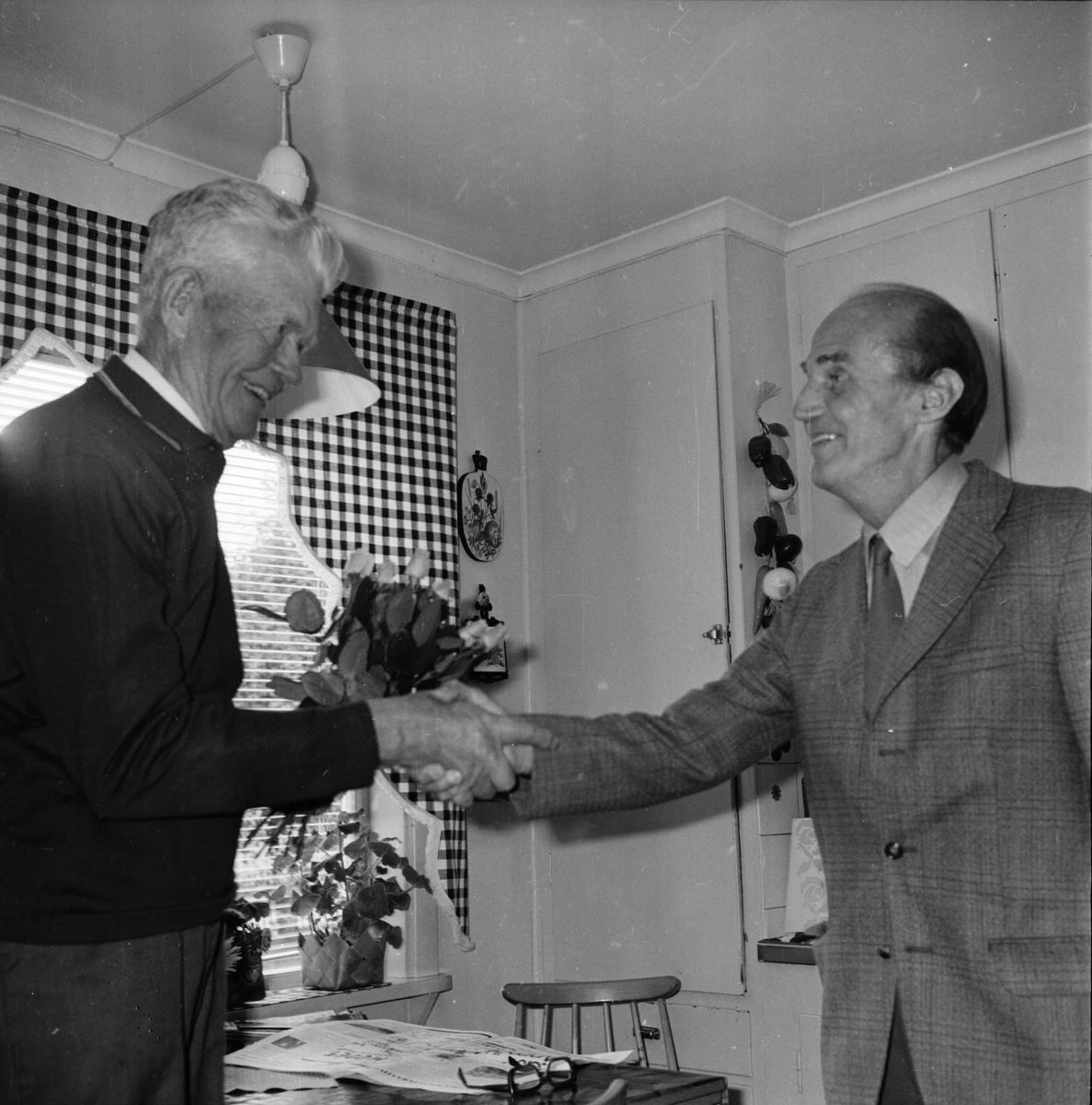 Magnus Andersson 60 år med Ljusnan. Bollnäs September 1972