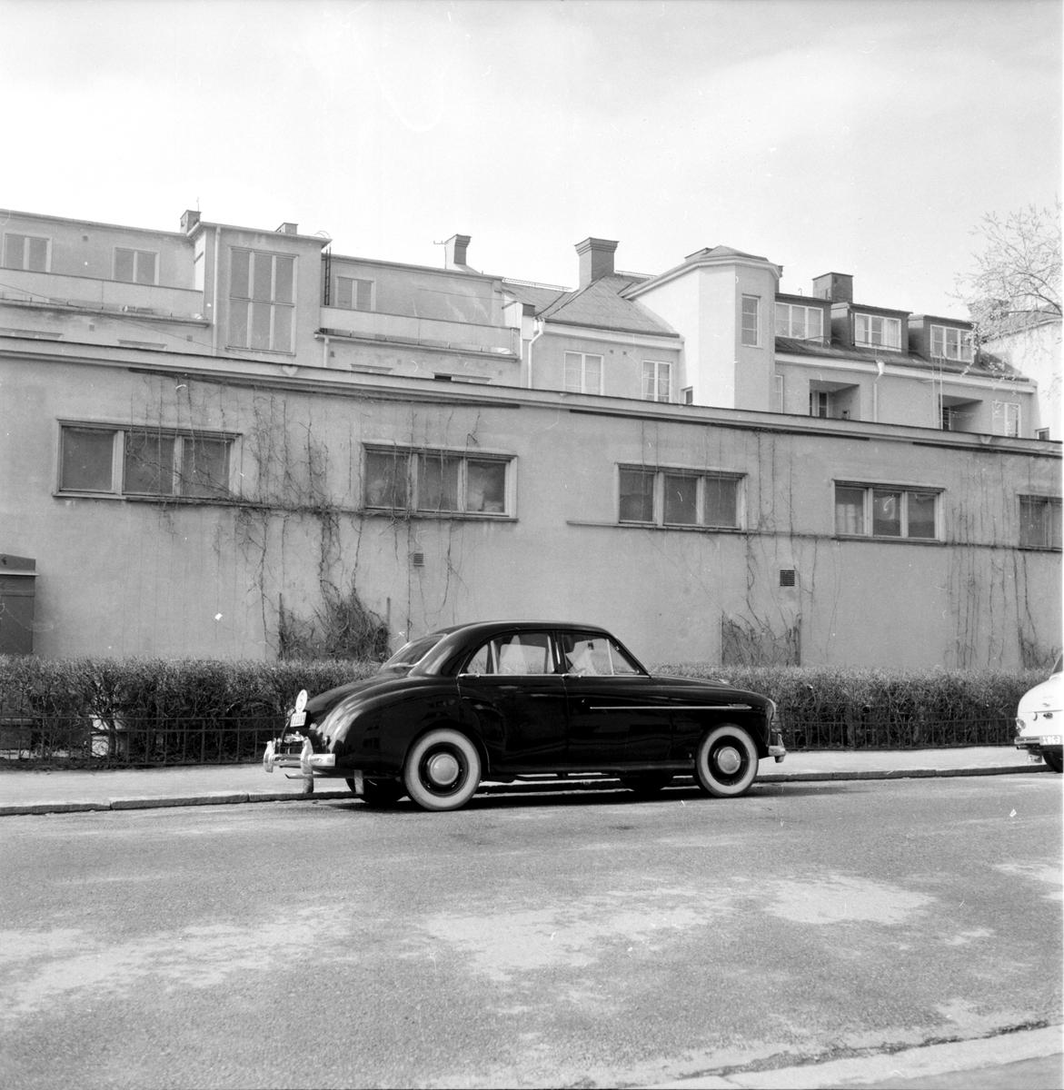 Baumgardt, Nils Händkvist på cykel, 1958