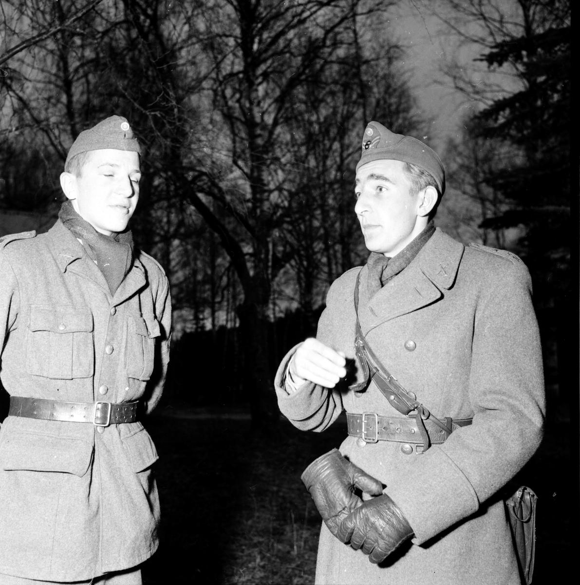 Befälsutbildare på Stagården, 10 Nov 1957