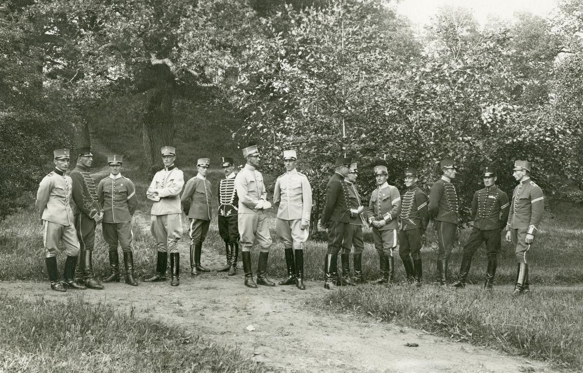Officerare på Kavalleriets underofficersskola 1923-1924.