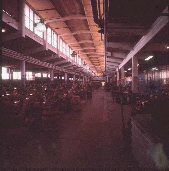 Interiör av Ammunitionsfabriken Karlsborg. Endast neg finns.