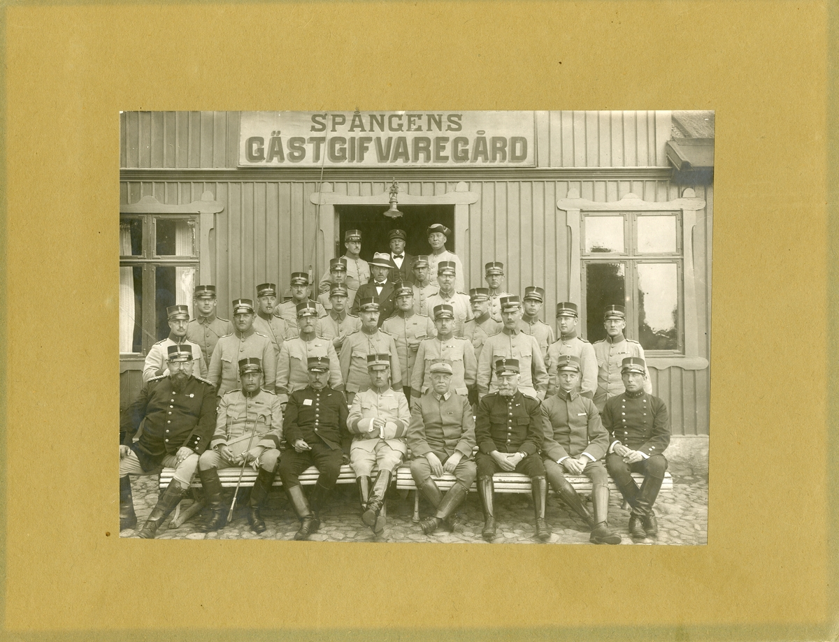 Taktiska övningar för militärläkare anordnade av I arméfördelningen, 1920. För namn, se bild nr. 3.