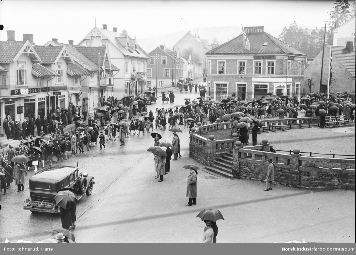 17. mai feiring i Notodden sentrum 1931