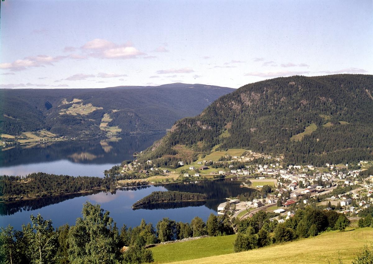 Oversikt over Fagernes, Nord-Aurdal.