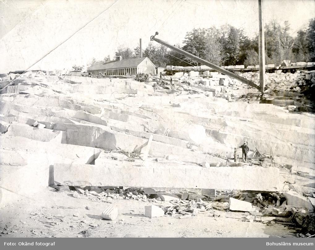 Arbete i stenbrott
