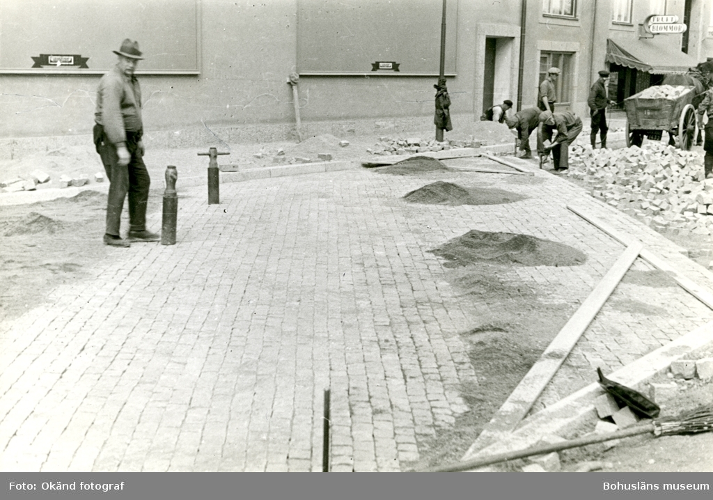 Läggning av gatsten