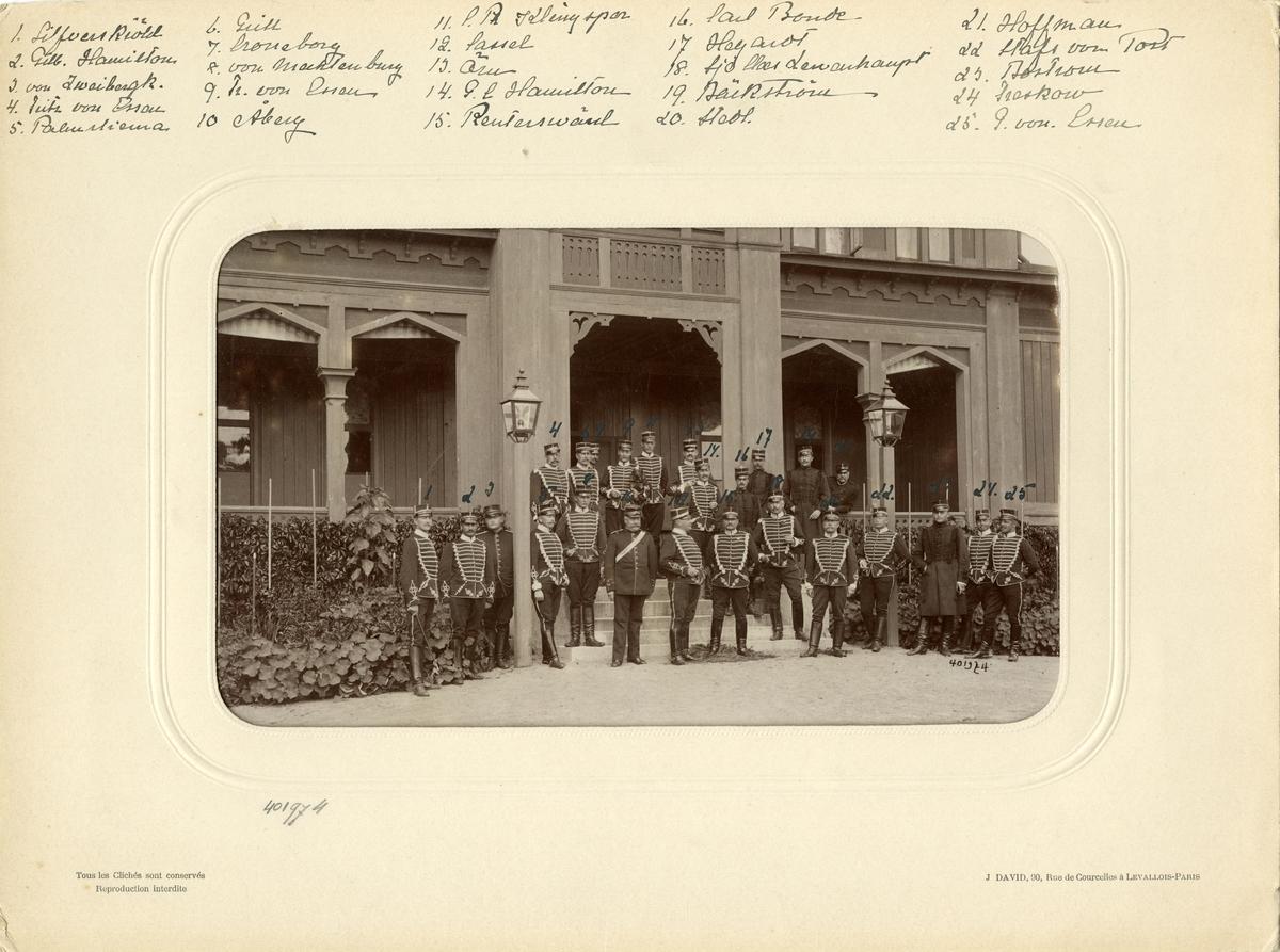 Officerare från Livregementets husarer K 3. För namn, se bild nr. 2.