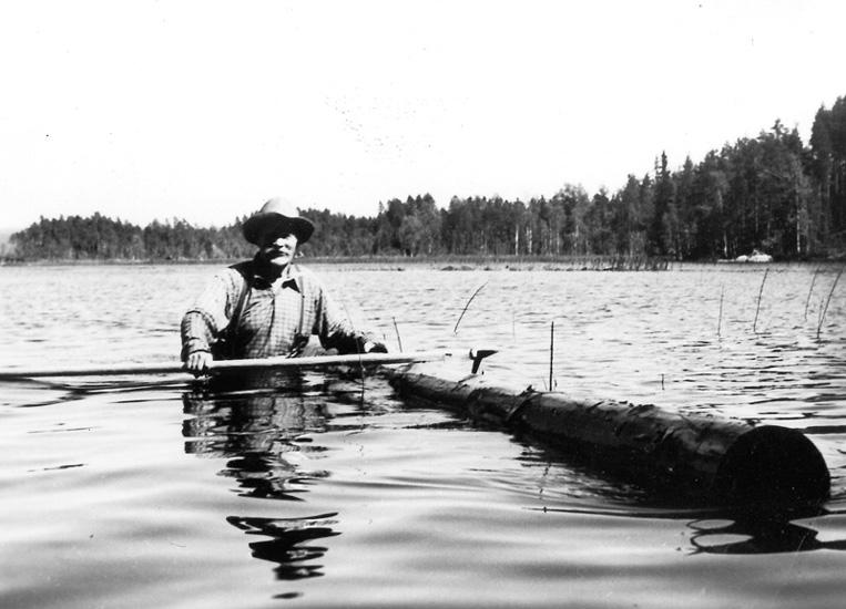 """""""Nitaho-Jussi"""" Johannes Johansson i filmen """"Finnskog og trollskap"""""""