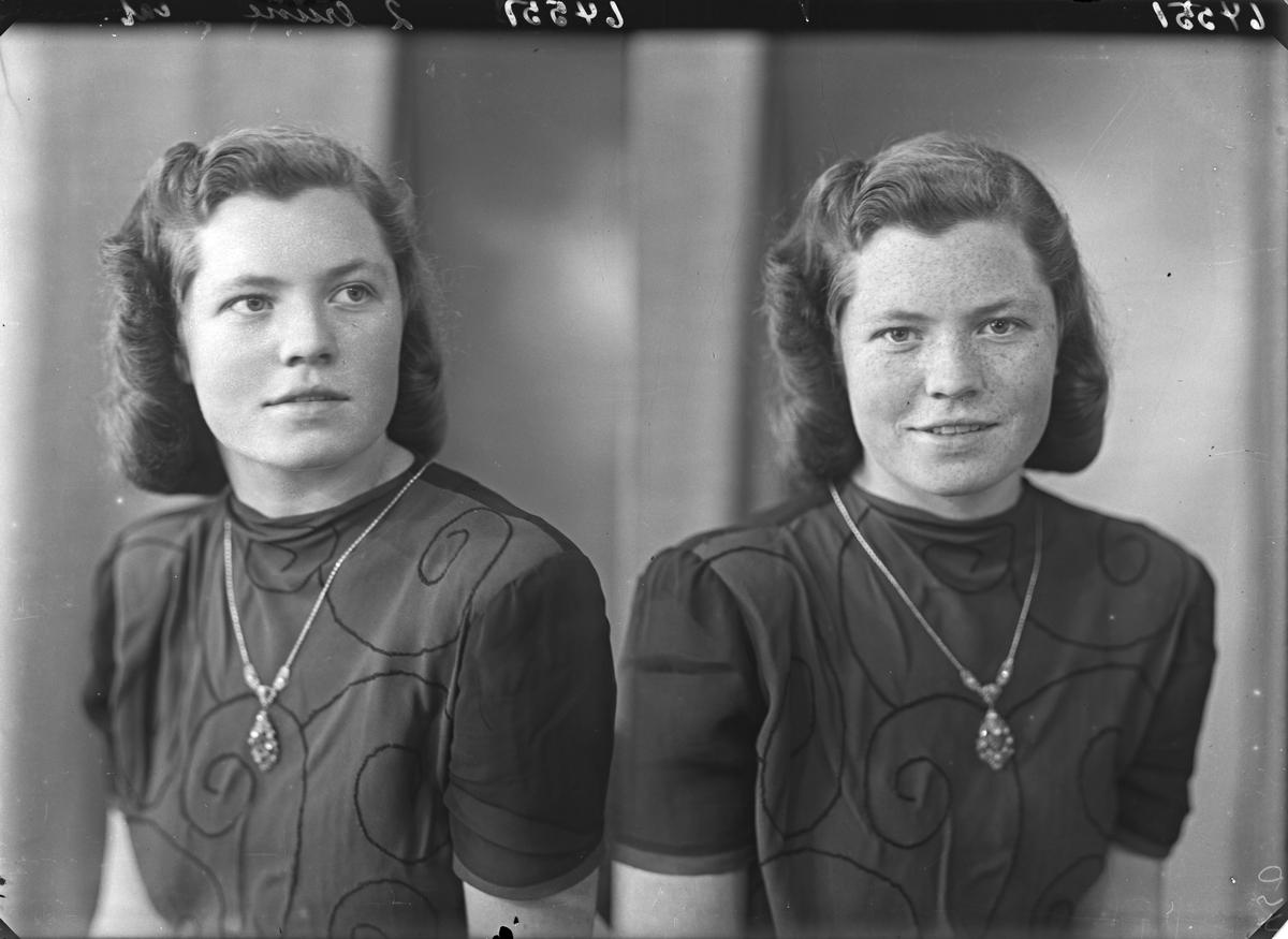 Portrett. Ung kvinne. Bestilt av Ester Bjordahl. Bj. Bjørnsonsgt. 17