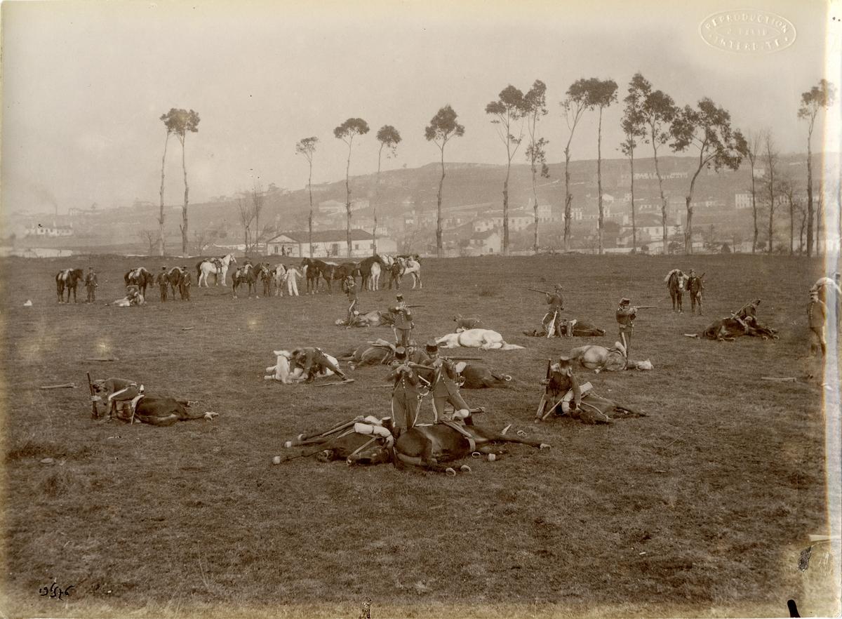 Franska soldater under skjutövning.