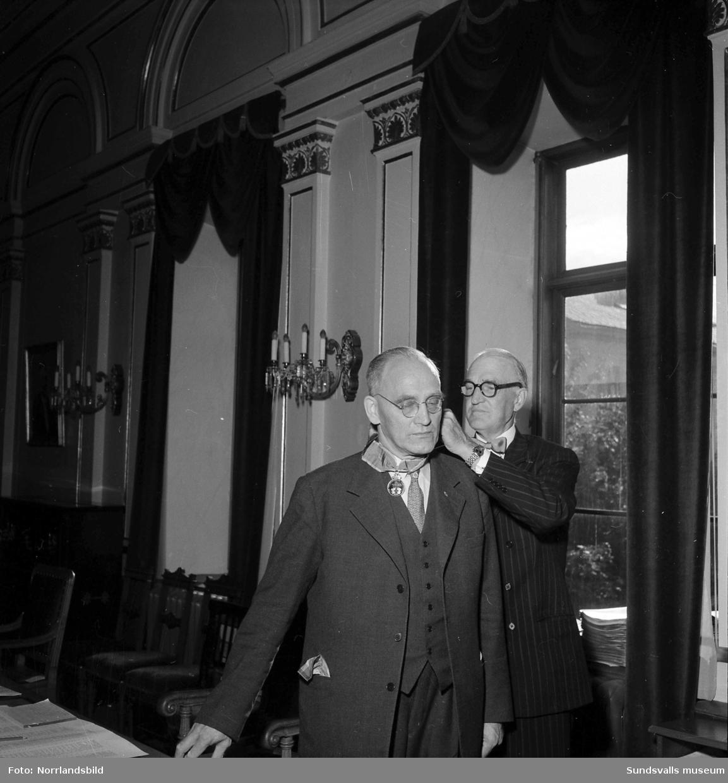 Länets landstingsmöte hedrade ordförande i Rådhuset, Härnösand.