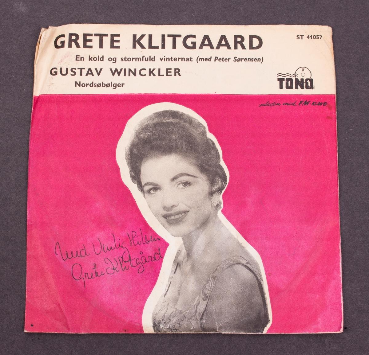 Fotografi på omslaget av Grete Klitgaard med signatur.